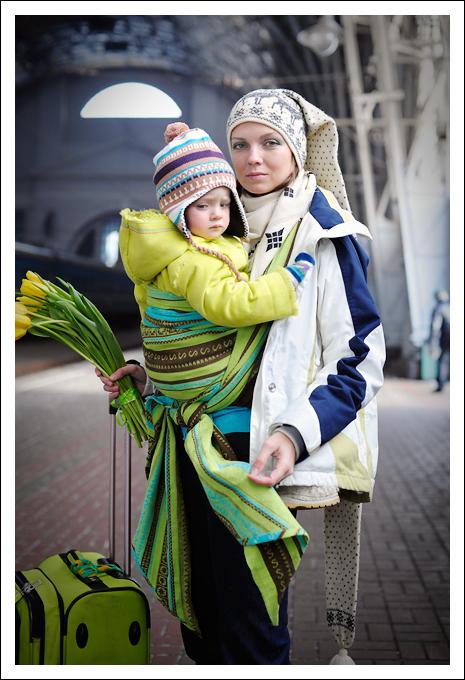 Слинг-шарф Ellevill Zara Tricolor Green
