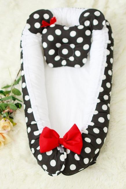 Гнездышко-кокон для новорожденных Babynest Minnie black