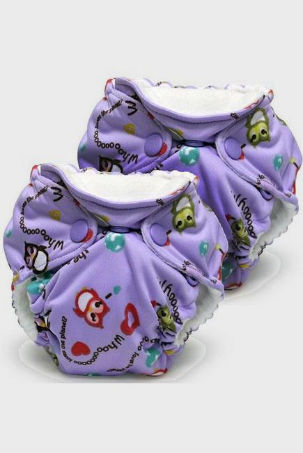 Многоразовые подгузники для новорожденных Lil Joey Kanga Care, Eco Owl (2шт.)