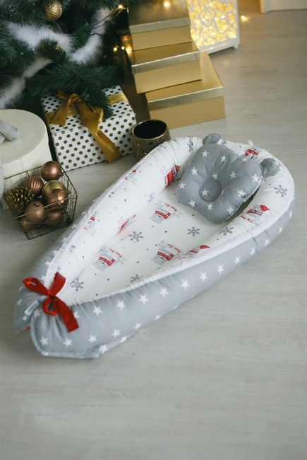 Гнездышко-кокон для новорожденных Babynest Snow Bear
