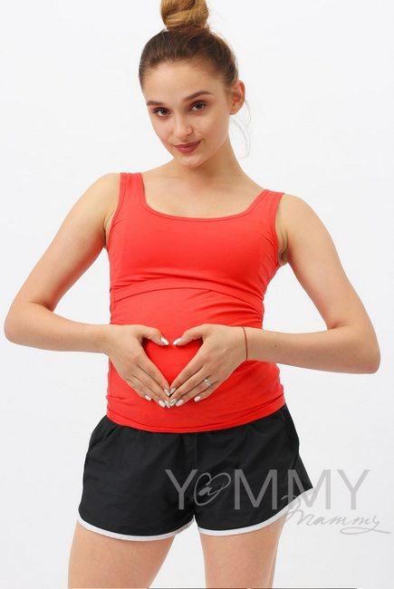 Майка для беременных и кормящих, алая