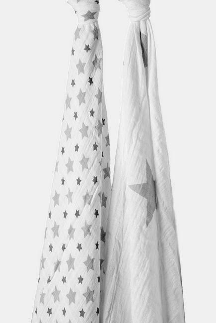 Муслиновые пеленки для новорожденных Aden&Anais большие, набор 2, Twinkle