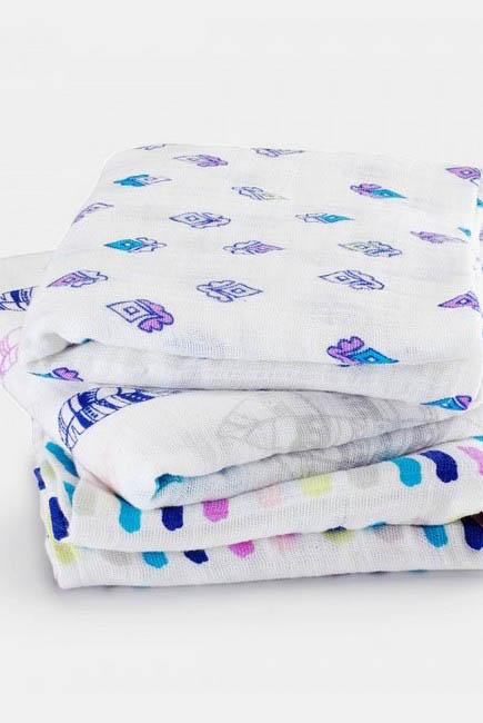 Муслиновые пеленки для новорожденных Aden&Anais средние, набор 3, Musy Wink