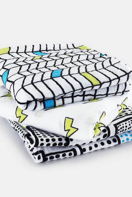 Муслиновые пеленки для новорожденных Aden&Anais средние, набор 3, Musy Whiz Kid