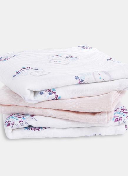 Муслиновые пеленки для новорожденных Aden&Anais средние, набор 3, Thistle