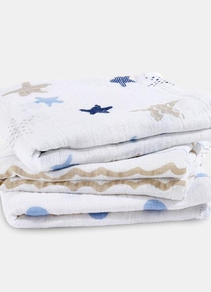 Муслиновые пеленки для новорожденных Aden&Anais средние, набор 3, Rock Star
