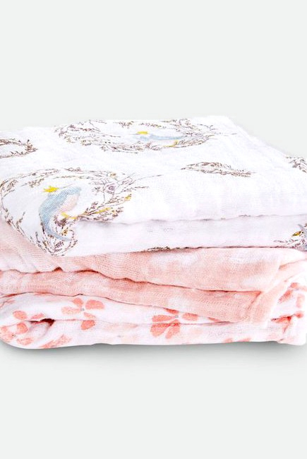 Муслиновые пеленки для новорожденных Aden&Anais средние, набор 3, Birdsong