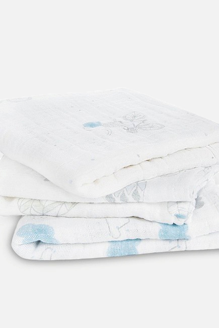 Муслиновые пеленки для новорожденных Aden&Anais средние, набор 3, Night Sky Reverie
