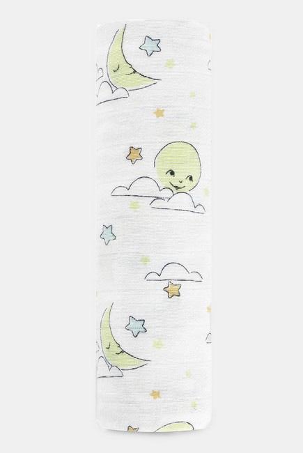 Муслиновая пеленка для новорожденных Aden&Anais органическая, большая, Sun+Moon