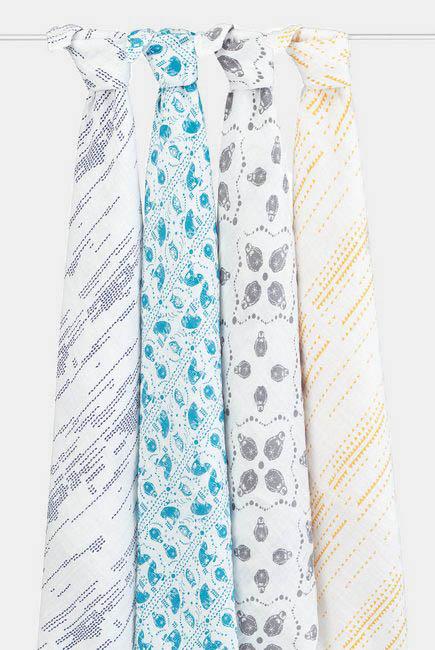 Муслиновые пеленки для новорожденных Aden&Anais, большие, набор 4, Kindred