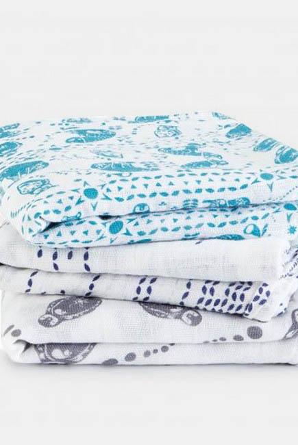 Муслиновые пеленки для новорожденных Aden&Anais средние, набор 3, Musy Kindred