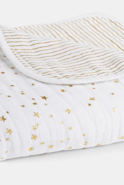 Муслиновое одеяло Aden&Anais, мерцающее, Metallic Gold