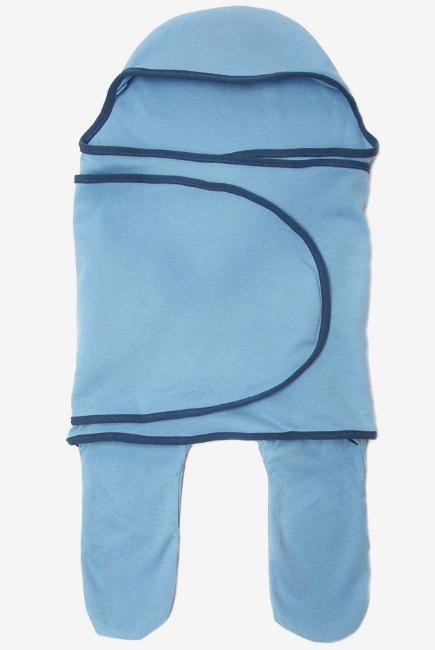 Пеленка кокон для новорожденных (комбинезон-конверт), скай