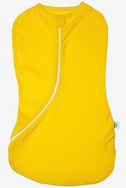 Пеленка-кокон для новорожденных трикотажный, желтый