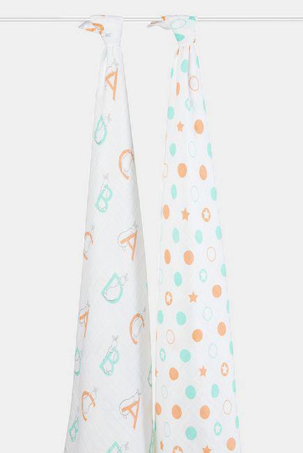 Муслиновые пеленки для новорожденных Aden&Anais большие, набор 2, Pat The Bunny