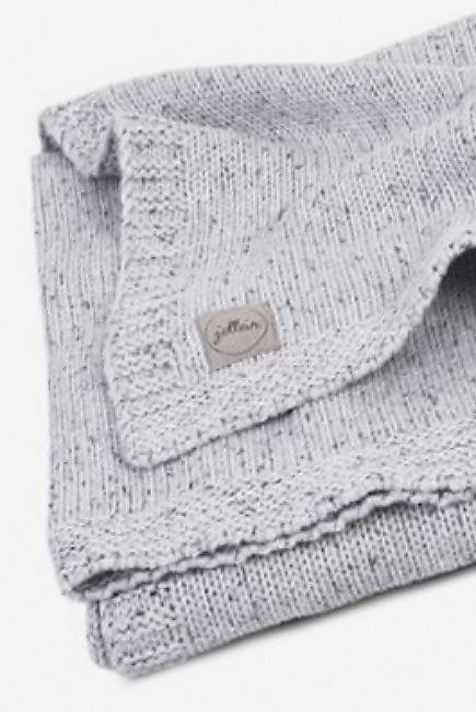Вязаный плед для новорожденного Jollein Confetti, серый, средний