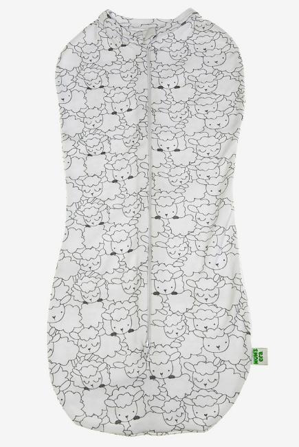 Пеленка-кокон для новорожденных трикотажный, овечки