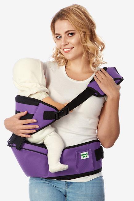 Хипсит со спинкой Comfort Mums Era, фиолетовый-черный