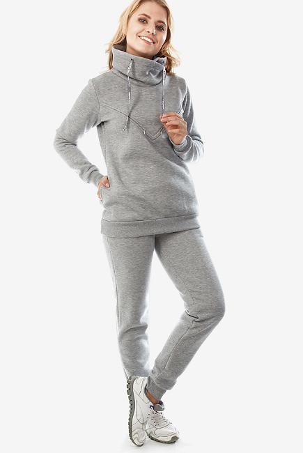 Костюм для кормящих и беременных из футера Sandra, серый