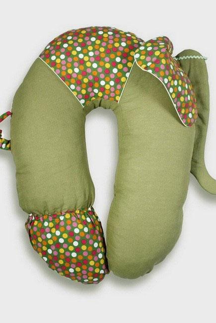 """Подушка для беременных и кормящих """"Слон Радостный"""", желтый"""