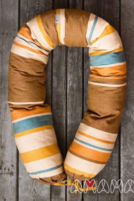 """Подушка для беременных и кормящих """"Путешественница"""", коричневый"""