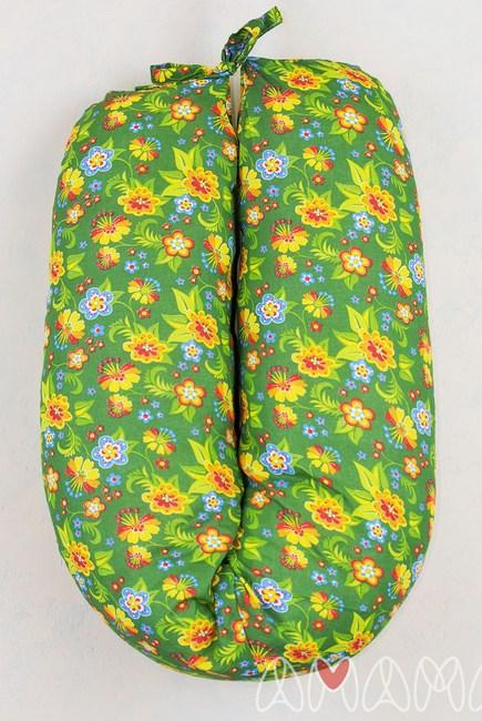 """Подушка для беременных и кормящих """"Лёгкая на подъём"""" 170см, зеленый"""