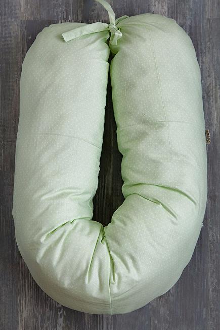 """Подушка для беременных и кормящих и """"Лёгкая на подъём"""" 150см, зеленый"""