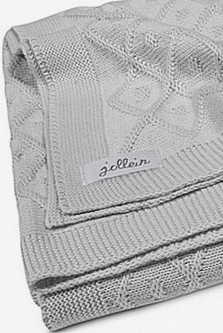 Вязаный плед для новорожденных Jollein Ромбы, серый