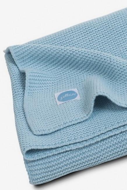 Вязаный плед для новорожденных Jollein Basic Knit, сине-голубой, большой