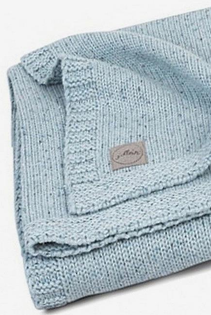 Вязаный плед для новорожденного Jollein Confetti Knit, cеро-зеленый