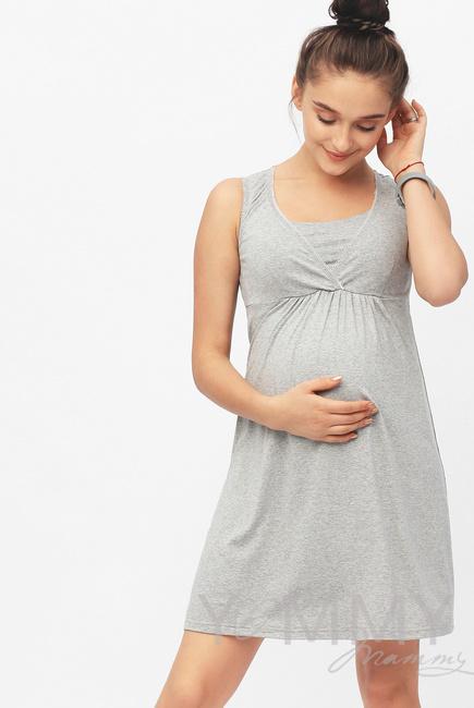 Ночная сорочка, цвет серый меланж