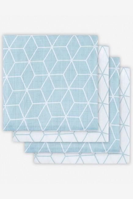 Муслиновые пеленки для новорожденных Jollein средние, Graphic Stone Green