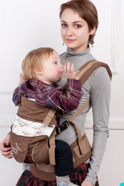 Эрго-рюкзак My Baby Style, коричневый