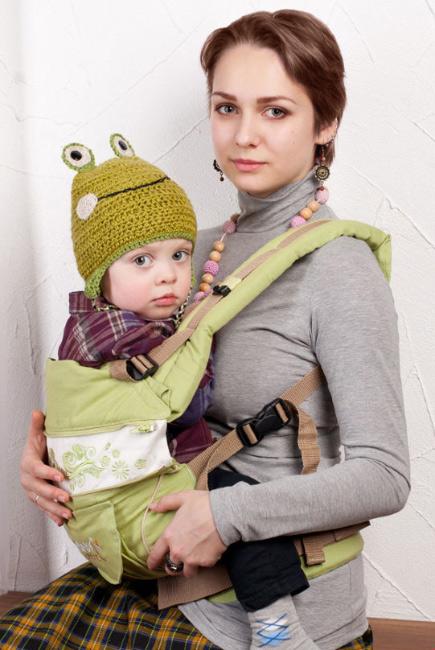 Эрго-рюкзак My Baby Style, зеленый бабочки