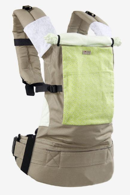 Эрго-рюкзак Classic, цветы на зеленом