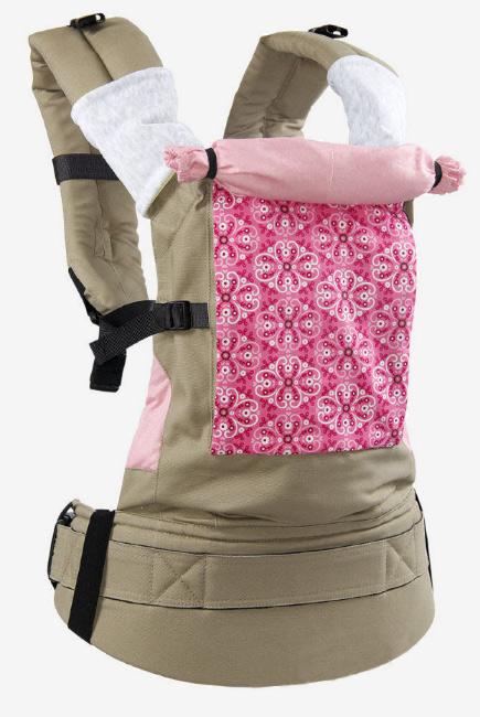 Эрго-рюкзак Classic, розовый узор