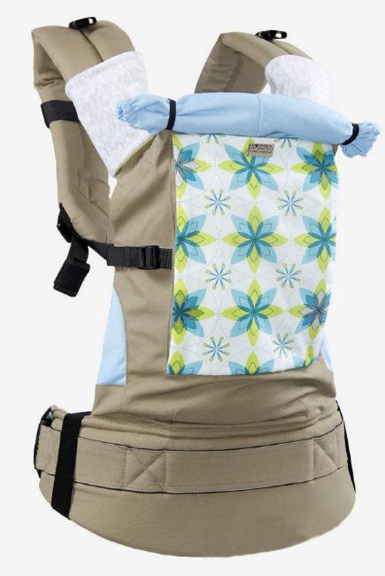 Эрго-рюкзак Classic, голубые цветы