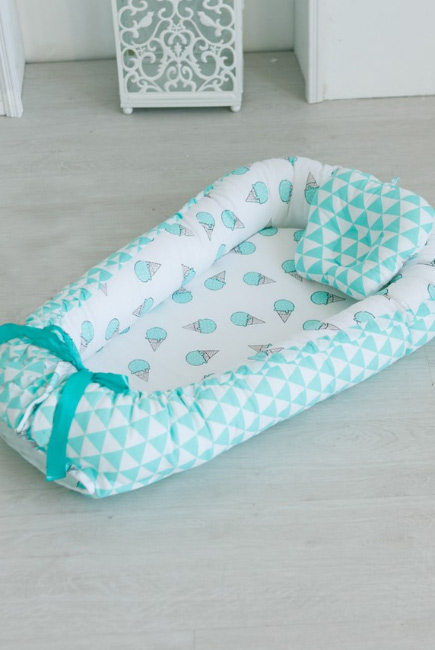 Гнездышко-кокон для новорожденных Babynest Mint Gelato