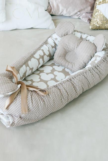 Гнездышко для новорожденных Babynest Coffee