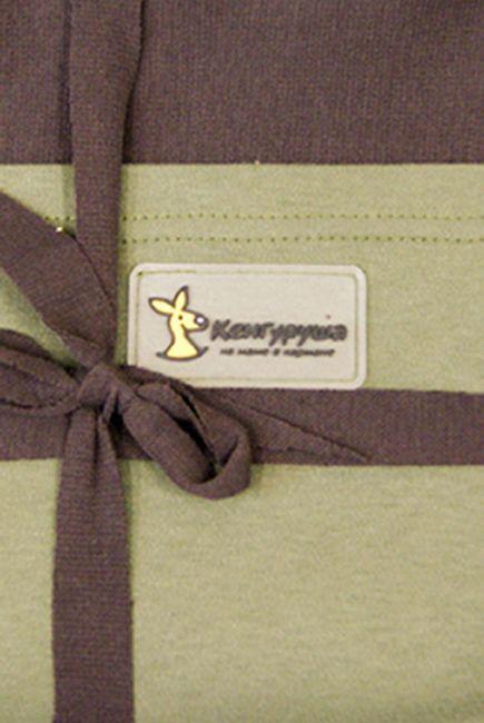 Слинг-шарф трикотажный Kengurusha Mix, цвет кофе-олива