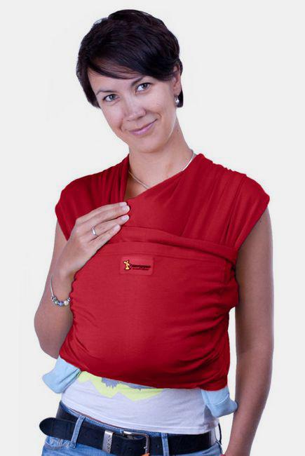 Слинг-шарф трикотажный Кенгуруша Style, бордо