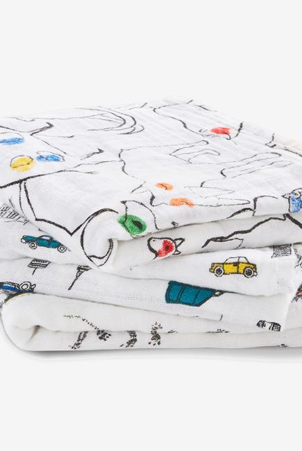 Муслиновые пеленки для новорожденных средние Aden&Anais, набор 3, Color Pop