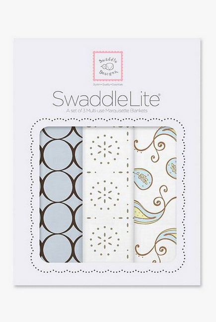Набор пеленок SwaddleDesigns - SwaddleLite Blue Modern