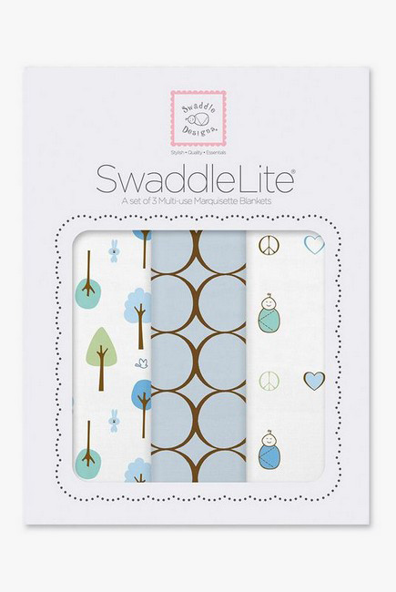 Набор пеленок SwaddleDesigns - SwaddleLite Cute & Calm Pastel Blue
