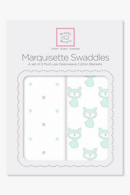 Набор пеленок SwaddleDesigns Marquisette 2-Pack Little, Fox Dottie Star