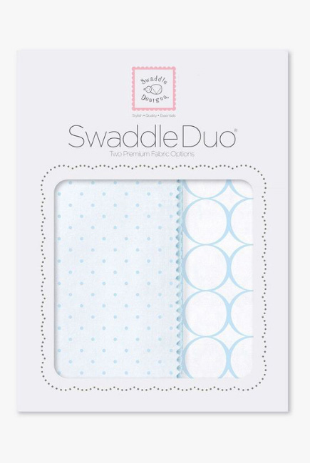 Набор пеленок SwaddleDesigns - Swaddle Duo PB Dot/Mod Circle