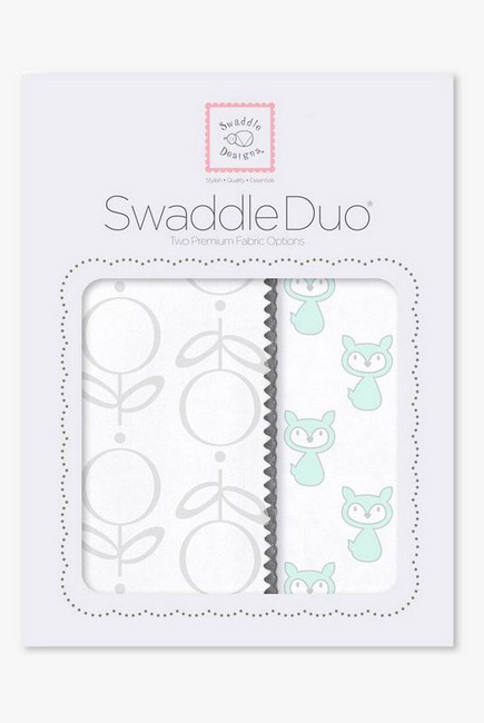 Набор пеленок SwaddleDesigns Swaddle Duo, SeaCrystal Little Fox