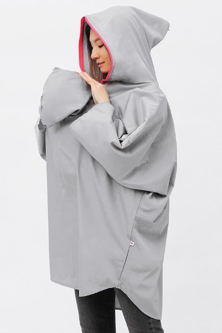Слингокуртка-слингодождевик серый