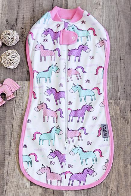 Пеленка-кокон на молнии для новорожденных, Unicorn