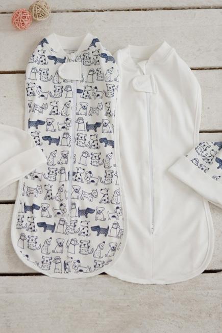 Комплект пеленок-коконов для новорожденных, Dogs